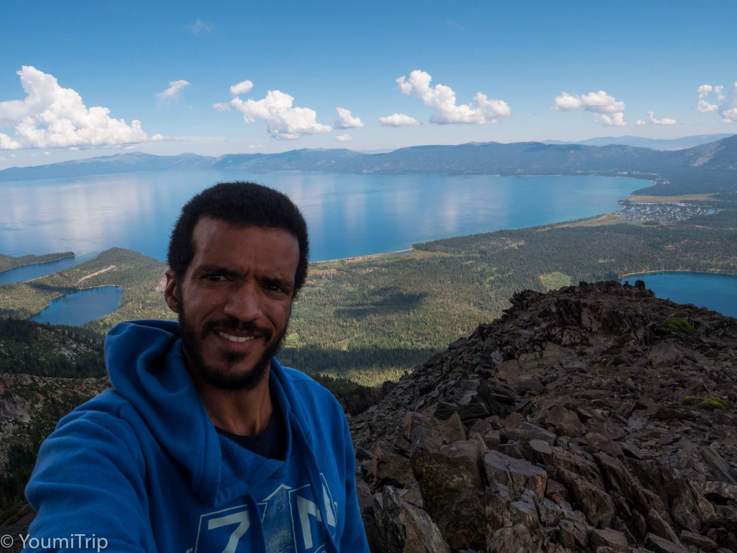 Selfie at the top of Mt Tallac