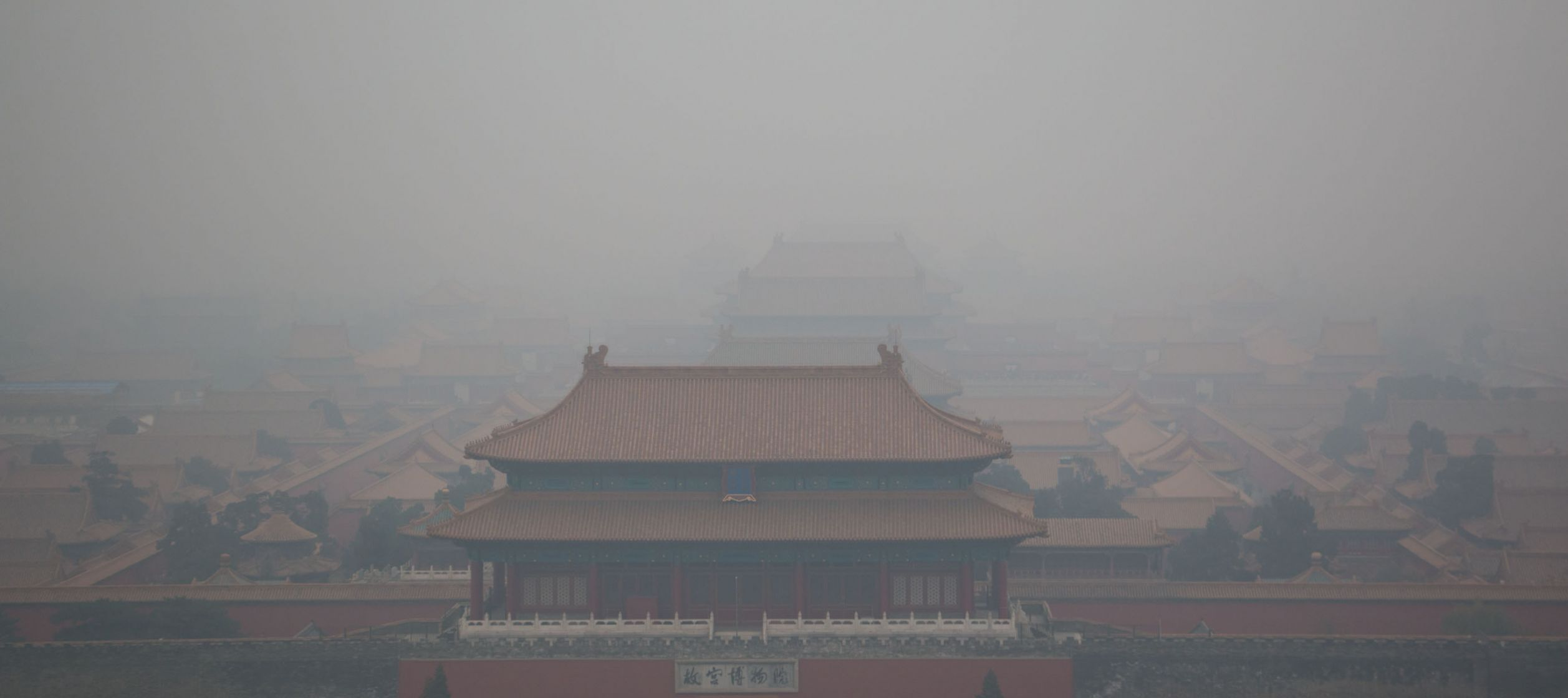 Forbidden city under the smog