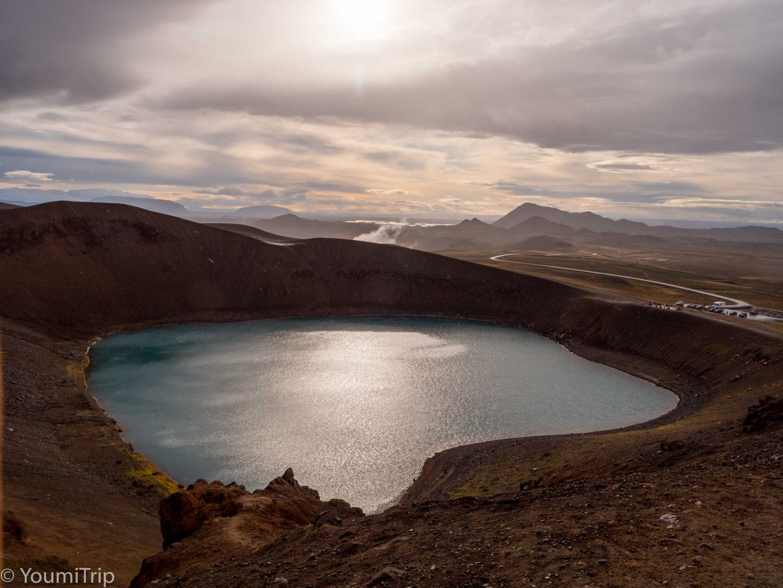 Krafla volcano crater